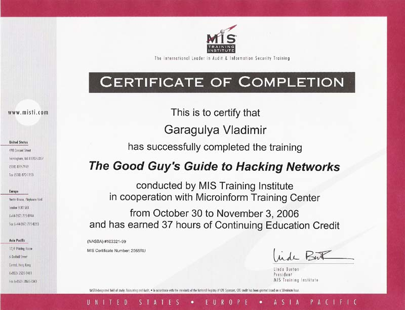 MIS Hacking networks