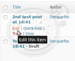 Edit Post Expire WordPress plugin