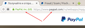 PayPal SSL certificat info