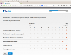 PayPal customer feedback step 5
