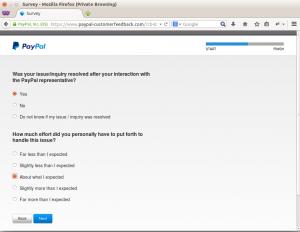 PayPal customer feedback step 6