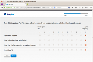 PayPal customer feedback step 8