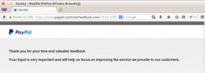 PayPal customer feedback step 11