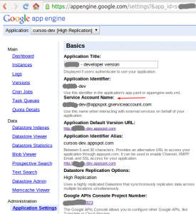 Google App Engine Service Account Name
